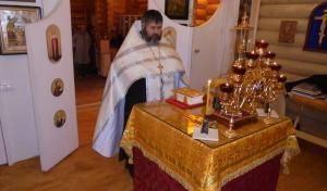 Освящение нового алтаря. Храм-часовня святителя Николая Чудотворца