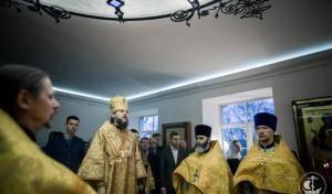 АРХИЕПИСКОП АМВРОСИЙ СОВЕРШИЛ БОЖЕСТВЕННУЮ ЛИТУРГИЮ В ДОМОВОМ ХРАМЕ ВОЕННО-МЕДИЦИНСКОЙ АКАДЕМИИ