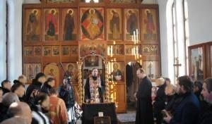 Принесение святых мощей в ФКУ ИК-5 (п. Металлострой)