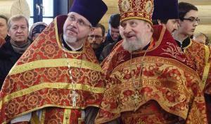 Первая Литургия в храме Санкт-Петербургских святых